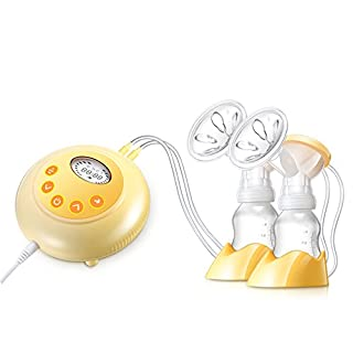 IREALIST Double Electric Breast Pump Automatic Breastfeeding Pump (Yellow-2)