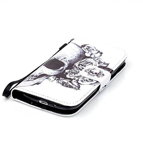 Meet de Samsung Galaxy S3 i9300 i9305 Bookstyle Étui Housse étui coque Case Cover smart flip cuir Case à rabat pour Galaxy S3 i9300 i9305 Coque de protection Portefeuille - this iphone is locked slide crâne