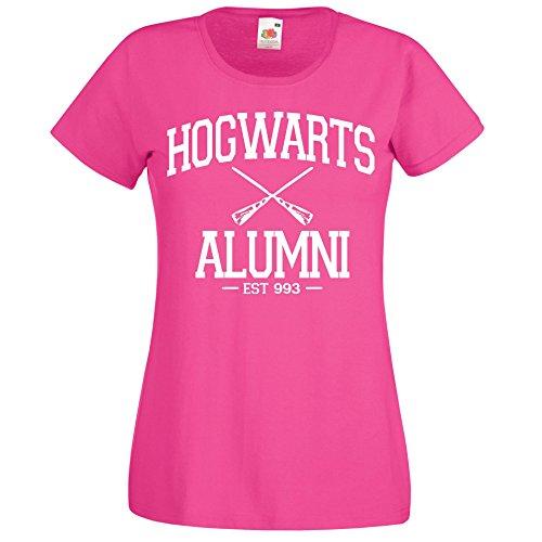 TRVPPY Damen T-Shirt Modell Alumni Farbe Pink Größe M