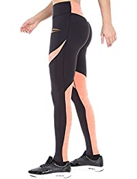 SMILODOX Sport Leggings Damen | Figurformende Leggins für Sport Fitness Gym Training & Freizeit | Sporthose - Workout Trainingshose mit Muster - Tights Laufhose
