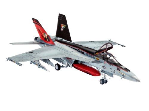 Imagen 1 de Revell - Maqueta modelo set F/A-18E Super Hornet, escala 1:144 (63997)