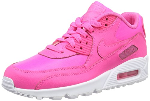 Nike  NIKE AIR MAX 90 LTR (GS), Sneakers basses femmes Rose - (600 Pink Pow/Pink Pow-White)