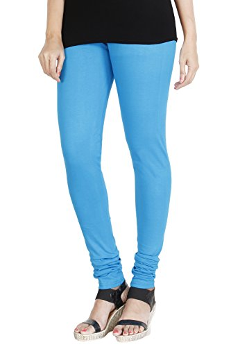HRINKAR® LIGHT BLUE Soft Cotton Lycra Plain leggings for womens Size - L, XL, XXL - HLGS1523-L  available at amazon for Rs.249