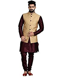 Veera Paridhaan Men's Banarasi Print Nehru Jacket