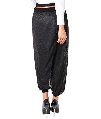 KRISP® Damen Freizeithose Haremshose im Orientalischen Stil Schwarz (4866)
