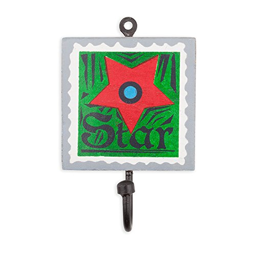 Colorique chokhi Stamps Tampon Porte-Manteau Star, 10 x 0,5 cm, Multicolore