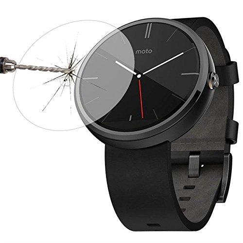 Fone-Stuff Moto 360 Uhrglas-Schirm-Schutz, echte temperierte, Extra Stark ultra-dünne Schutz-Abdeckung Film