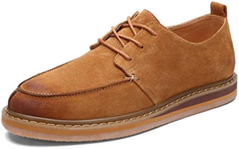 GRRONG Zapatos Del Ante De Los Zapatos Ocasionales De La Manera De Los Hombres