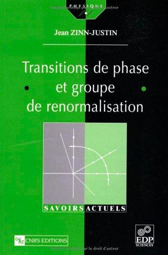 Transition de phase et groupe de renormalisation