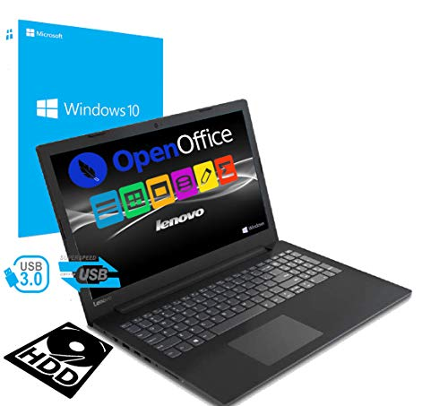 Notebook Pc Portatile Lenovo / Dispaly da 15.6' / Cpu Amd A4 2.30GHz / Ram 4Gb Ddr4 / Hdd 500Gb / Grafica Radeon R3 / Hdmi / Masterizzatore / Wi fi / Bluetooth / Open Office / Windows 10 professional