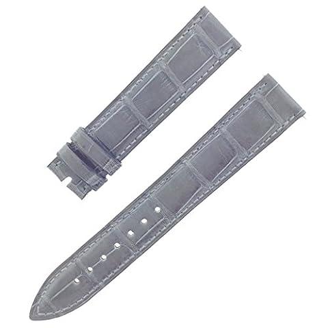 Franck Muller 28K 18–16mm Cuir véritable Alligator Gris mat Bracelet de montre