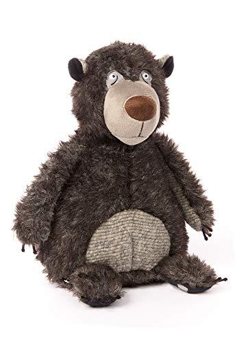 Sigikid 39018 Bär Wacker Knacker, EIN Mitglied der Rumhänggäng aus BEASTSTOWN-Beasts-Designplüsch als Geschenk für Kinder und Erwachsene, grau