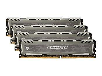 Ballistix Sport LT Gray 32GB Kit (4 x 8GB) DDR4-2400 UDIMM