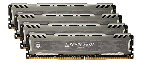 Ecc Single Rank Kit (Ballistix Sport LT BLS4K4G4D26BFSB 16GB (4GB x4) Speicher Kit (DDR4, 2666 MT/s, PC4-21300, CL16, Single Rank x8, DIMM, 288-Pin) grau)