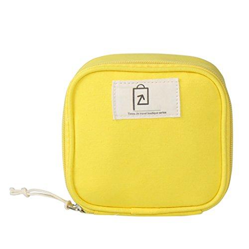 CLOTHES- Piccolo sacchetto cosmetico del sacchetto di rossetto del cotone fresco Sacchetto di caramella stereo della cinghia di dati di viaggio ( Colore : Rosa ) Giallo