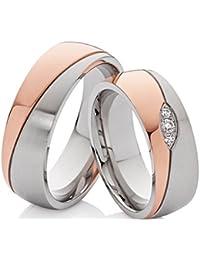2 los anillos de compromiso de boda anillos de compromiso anillos de bodas de acero inoxidable