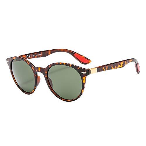 Suertree JH9031 Sonnenbrille, rund, polarisiert, modisch, Kunststoff, für Damen und Herren