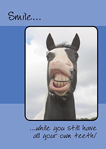 Pferde Karte - Smile .... alle Zähne - Geburtstagskarte
