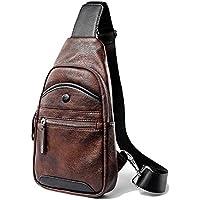 1249dfdb3d1c4 BRZM Klassische Herren-Tasche einfache Art-Junge-Tasche Männer Casual PU  Leder Brusttasche