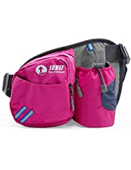 [Sport Hüfttasche] SHOWTIMEZ Hüfttasche Multi-Function Gürteltasche Wasserabweisende Bauchtasche Flache Taille Tasche mit Flaschenhalter zum Sport und Reisen