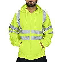 Logobeing Chaqueta Hombre Sudaderas Trabajo Casual Camisas Hombre Manga Larga Jersey de Alta Visibilidad Chaquetas Cardigan