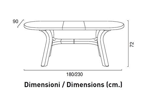 Tavoli Di Plastica Da Giardino Allungabili.Tavolo Da Giardino Allungabile In Plastica Resina 180 230 Cm