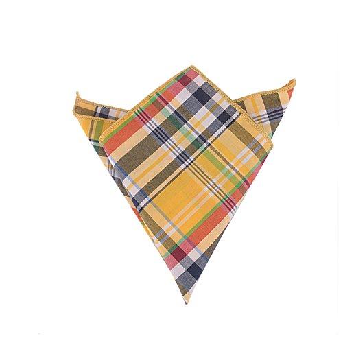 Sitong Hommes mode coton plaid costume poche mouchoirs carr¨¦s Q-45