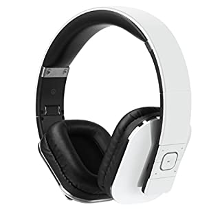 August EP650 Wireless Bluetooth Headphones - White - Android/iOS App, Bluetooth v4.2, NFC & aptX LL