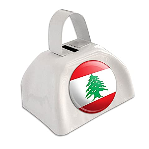 Liban Drapeau national Pays Blanc cloche Cowbell Cloche de vache
