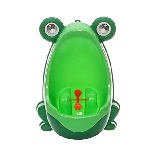 valink Lovely Froggy Baby Urinal, Boy 's-WC für Kinder Töpfchen WC-Training, Kid-WC für Jungen Pee Trainer Badezimmer-Grün, 21x 15x 29cm - Für Kid Badezimmer-sets Jungen