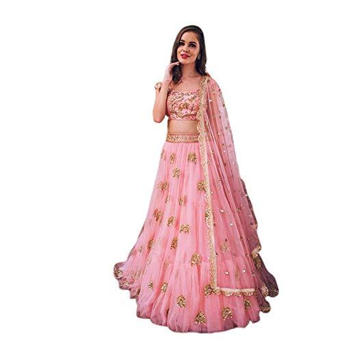 Sari Lehenga (Uddan Creation LenghaCholi indische Partei tragen Lehenga Lengha Choli pakistanische Hochzeit Sari)
