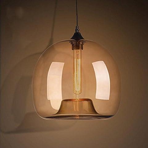 KHSKX Moderno e minimalista sala da pranzo lampada da tavolo cafe bar retro lampada singola testa Goldfish Bowl lampadari in vetro illuminazione il Nordic 250*220mm