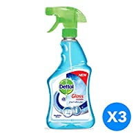 Dettol Glass Cleaner - Sparking Shine, Pack of 3 Pcs (3 x 500ml)