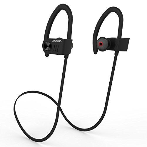 Auriculares Bluetooth 4.1, ZOETOUCH Auriculares Inalámbricos In Ear con Micrófono Cascos Bluetooth con Sonido Estéreo Llamadas a Manos Libres para iPhone, Samsung, Sony, HUAWEI - Negro