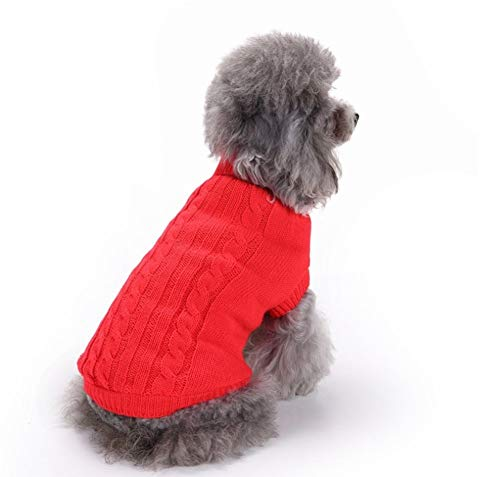 Den Fuß Pferd Kostüm - Bobopai Pet Dogs'' Clothes Cats Clothes Knitted Sweater for Winter and Autumn Assorted Colours and Size Options (Red)