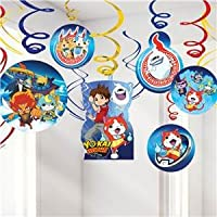 • Throw a Yo-Kai Watch birthday party • Hanging foil swirl decorations • 6 plain swirls 6 with cut-outs • Pack of 12