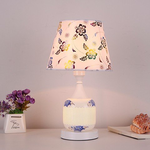 XHOPOS HOME Table Lamp Desk Lamp Bedside Lamp Minimalist Modern Bedroom Ceramic Wedding Gift Learning Lamps Dimming Switch