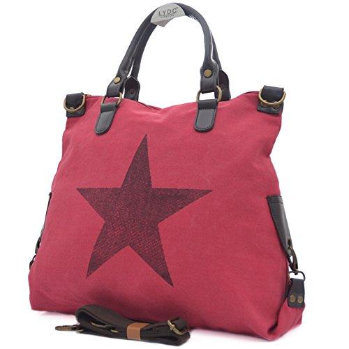 Vain Secrets Sternen Shopper Damen Handtasche mit Schulterriemen Rot