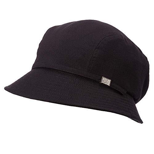 GONGFF Frauen Sonnenhut Sommer Eimer Caps Femme Für Mädchen Faltbare Packable Fashion Elegante Schwarzstrand Hüte Breiter Krempe Floppy Packable Einstellbare -