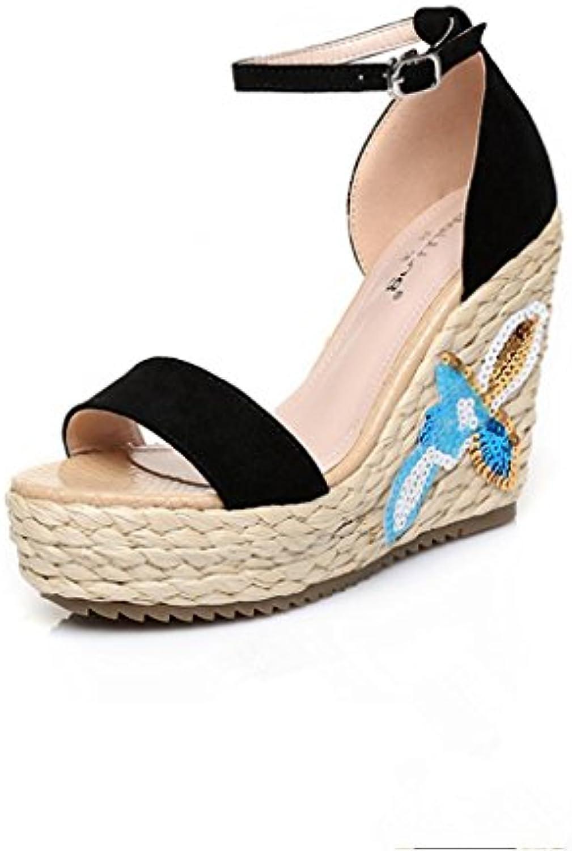 BaiLing Sandali di estate delle donne cuneo cuneo cuneo Heel handmade lavorato a maglia paglia impermeabile ricamo scarpe...   Diversified Nella Confezione    Uomo/Donna Scarpa  57383a