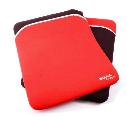 DURAGADGET zweifarbige Hülle aus Neopren, kompatibel mit LENOVO IdeaTab S6000L Tablet PCs (ROSA/SCHWARZ)