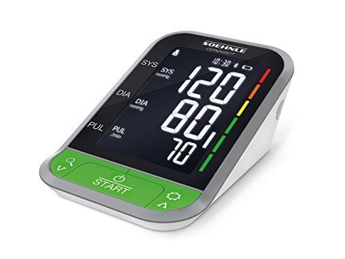 Soehnle Systo Monitor Connect 400 Oberarm Blutdruckmessgerät, mit Bluetooth und App-Anbindung, Blutdruckmesser mit Bewegungssensor