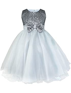 iiniim Niñas Vestido de Princesa sin Mangas Vestido de Boda de Fiesta Cumpleaños Vestidos con Brillante Lentejuelas...