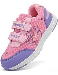 Moquite Zapatillas de Deporte Transpirables con Cierre de Velcros y Suela Antideslizante para Los Niños y Los Adolescentes