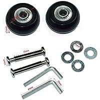 lovinstar 1par Equipaje Maleta ruedas OD Reemplazo 35(35mmx17mmx6mm  Juego de ejes 35reparación para Equipaje Maleta