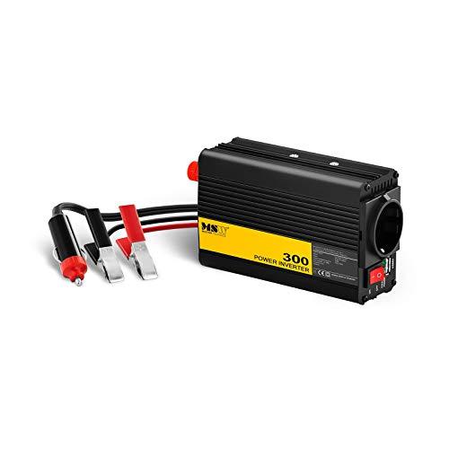 MSW Spannungswandler Wechselrichter Stromwandler MSW-CPI-300PSL (300 W, DC 12 V zu AC 230 V, reine Sinuswelle inkl. Adapter für Zigarettenanzünde) -