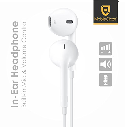 MobileGlaze EarPods Earphone With Mic and Sound Control For Apple iPhone 4/ 4S/ 5/ 5S/ 6/ 6S  available at amazon for Rs.109