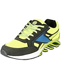 BACCA BUCCI MEN GREEN LYCRA AND MESH SPORT SHOES