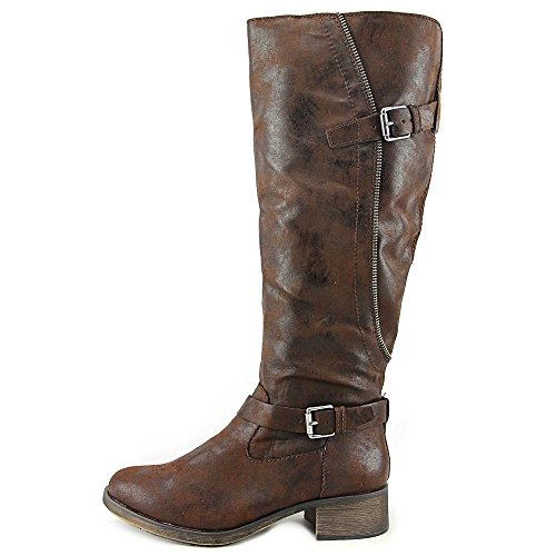 Style & Co Gayge Wide Calf Femmes Synthétique Botte Chocolat