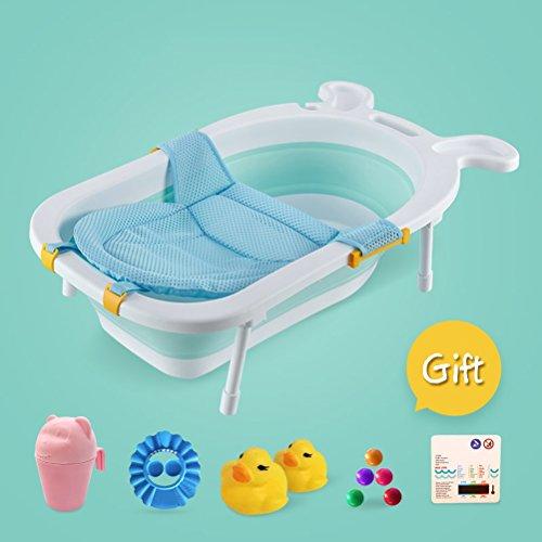 CLOTHES UK- Baby Badewanne Rutschfeste Matte Portable Faltbare Badewanne Komfort Faltbare Duschwanne Deluxe Neugeborenen Kleinkind-Wanne Badewanne (Farbe : G)